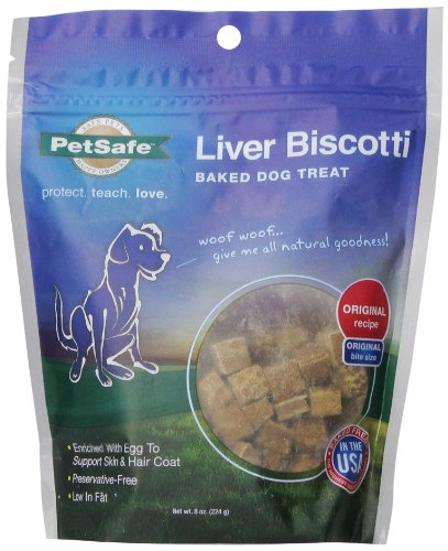 Liver Biscotti Small Bite Dog Treat Original Recipe 8 oz.